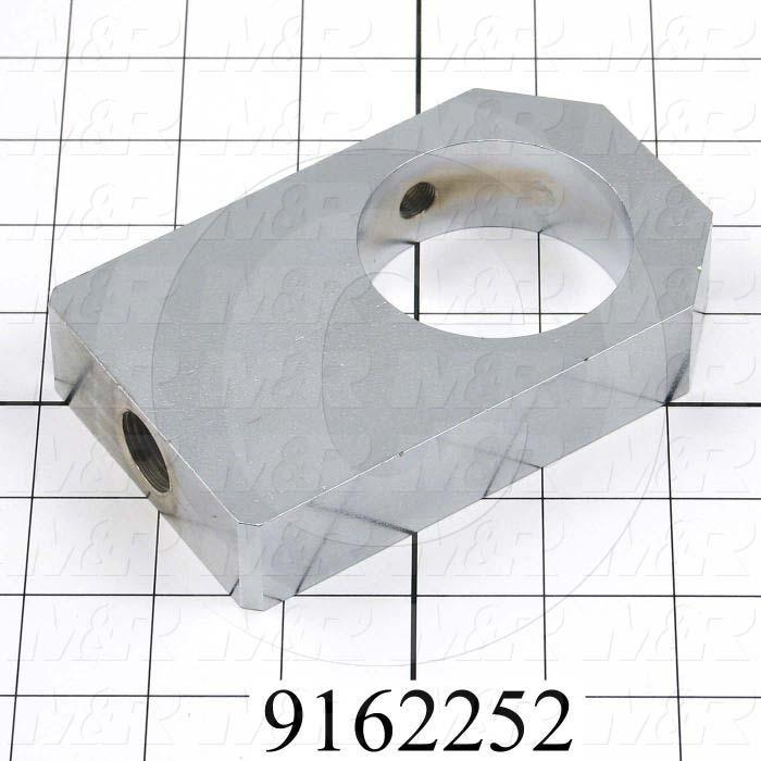 Fabricated Parts, Reducer Crank Bering Housing, 4.91 in. Length, 3.00 in. Width, 1.00 in. Thickness, Left Side
