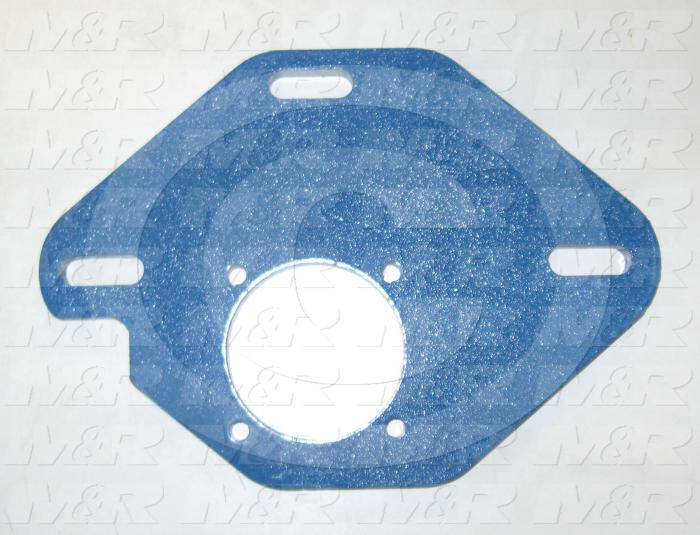 "Fabricated Parts, Reducer Mtg. Plate 6""X 8.5"", 8.50 in. Length, 6.00 in. Width, 3/8 in. Thickness, Painted Blue Finish"