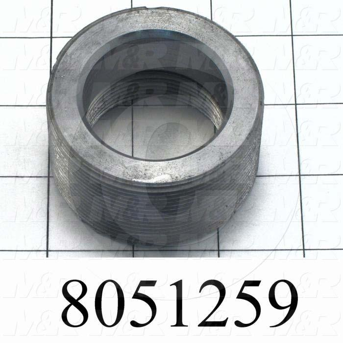 Fabricated Parts, Reducing Bushing, 2.50 in. Length, 1.38 in. Diameter, 1 3/4-12 Thread Size, Reducing 1 1/8 Shock To 3/4
