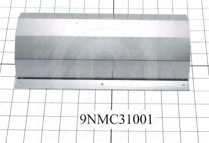 Fabricated Parts, Reflector, 10.00 in. Length, 6.50 in. Width