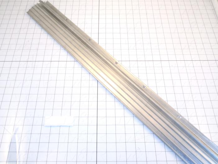Fabricated Parts, Reflector Extrusion, 36.75 in. Length, 2.13 in. Width, 3.21 in. Height