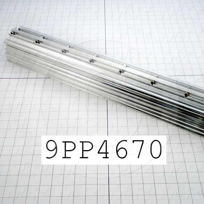 Fabricated Parts, Reflector Housing, 151.25 in. Length, 7.00 in. Width, 5.65 in. Height