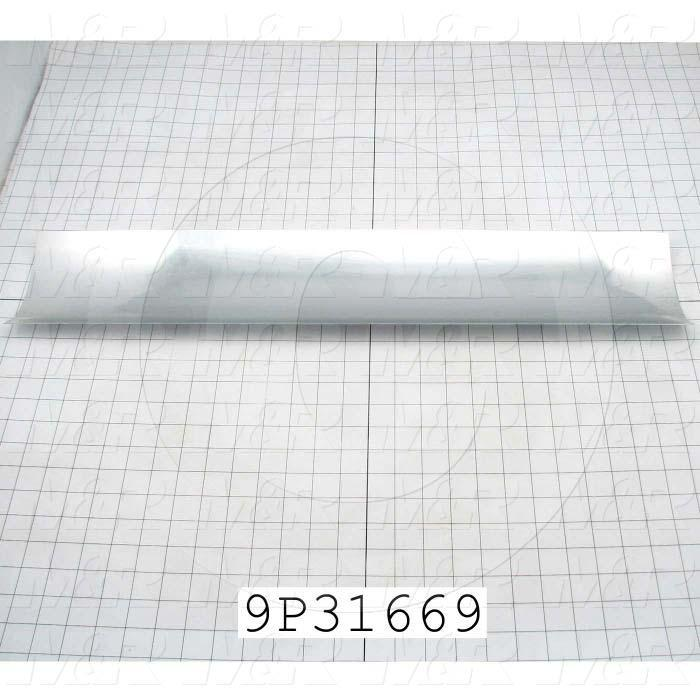 Fabricated Parts, Reflector Insert, 27.68 in. Length, 5.88 in. Width, 0.03 in. Thickness