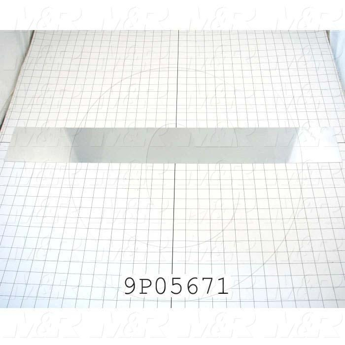 Fabricated Parts, Reflector Insert, 31.31 in. Length, 4.06 in. Width, 0.57 in. Height
