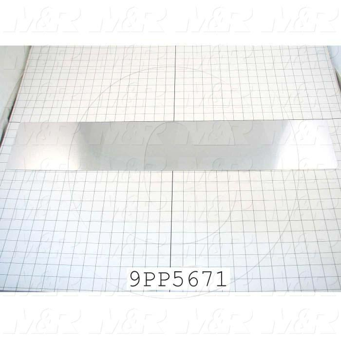 Fabricated Parts, Reflector Insert, 31.31 in. Length, 5.88 in. Width, 0.03 in. Thickness