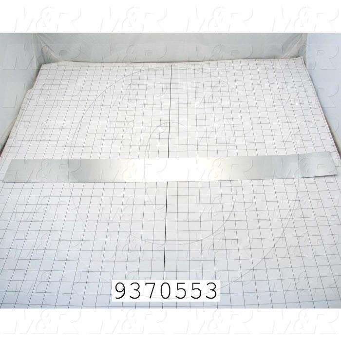 Fabricated Parts, Reflector Insert, 32.50 in. Length, 5.17 in. Width, 2.59 in. Height