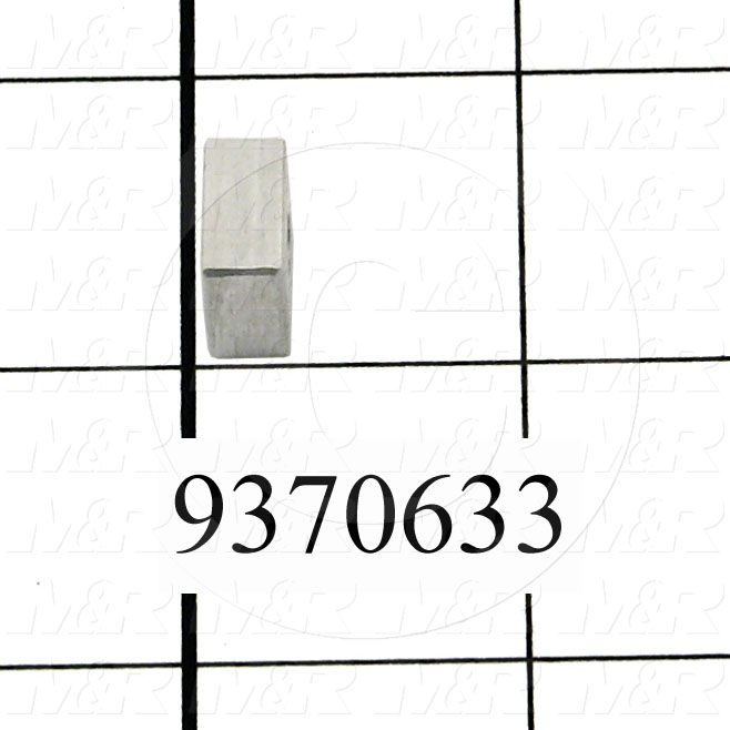 Fabricated Parts, Reflector Spacer, 0.50 in. Length, 0.50 in. Width, 0.25 in. Thickness