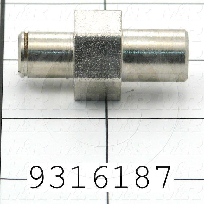 Fabricated Parts, Register Bearing Eccentric, 1.59 in. Length, 0.75 in. Width, 0.75 in. Height