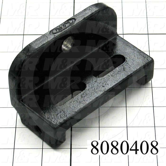 Fabricated Parts, Registration Bearing Bracket, 5.00 in. Length, 2.50 in. Width, 3.00 in. Height, Black Powder Coat Finish