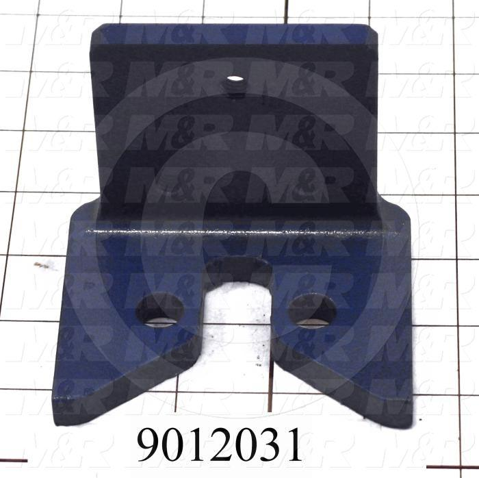 Fabricated Parts, Registration Bearing Mounting Bracket, 3.75 in. Length, 3.00 in. Width, 2.94 in. Height