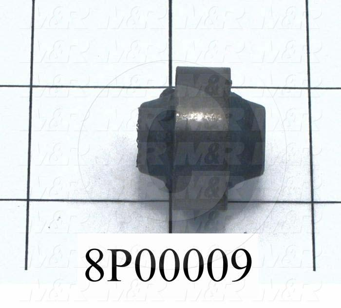 Fabricated Parts, Resilient Bushing, 1.31 in. Length, 1.38 in. Diameter