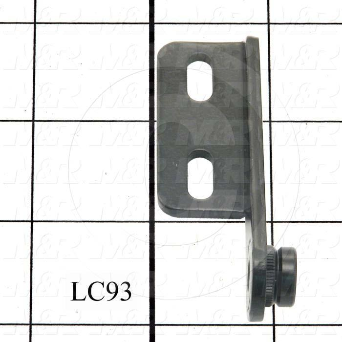 Fabricated Parts, Right Hinge Female Half, 3.00 in. Length, 0.87 in. Width, 0.90 in. Height, 11 GA Thickness