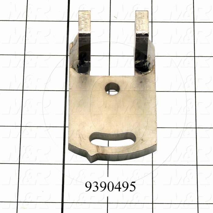 Fabricated Parts, Right Holder Bracket, 2.00 in. Length, 1.56 in. Width, 3.10 in. Height, OC50001 Nickel Plating Finish