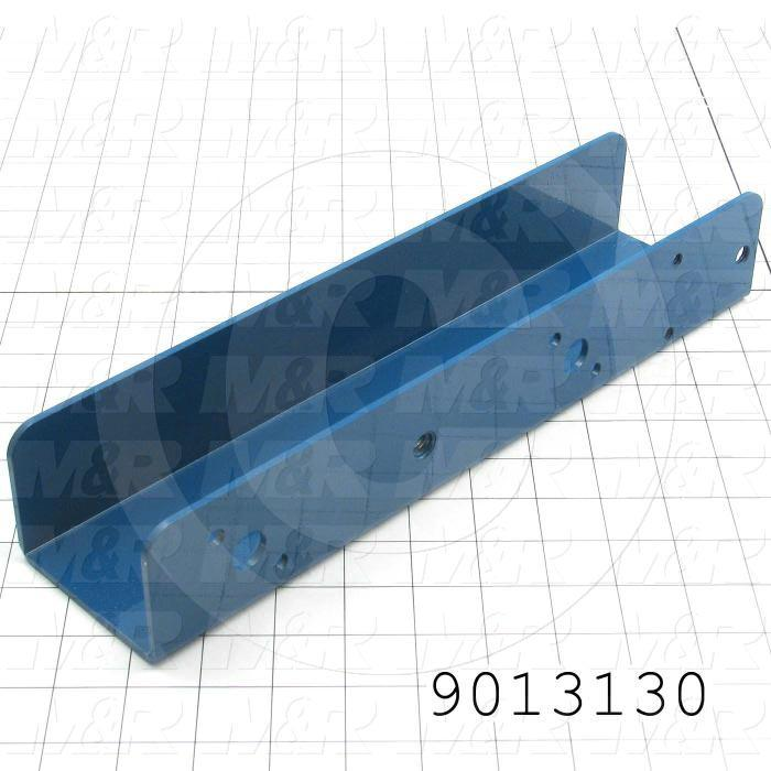 Fabricated Parts, Right Side Screen Holder Airlock, 13.75 in. Length, 3.25 in. Width, 2.38 in. Height, Painted Blue Finish