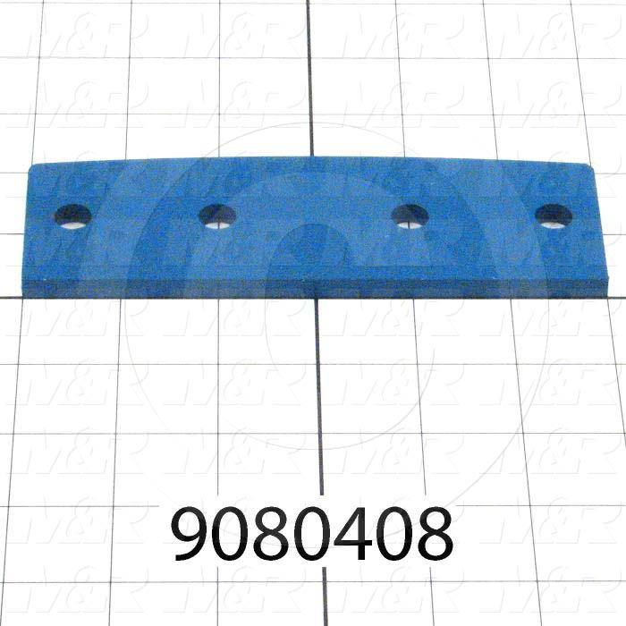 "Fabricated Parts, Ring Splice 1/4""X2""X6.5"", 6.50 in. Length, 1.875 in. Width, 1/4 in. Thickness, Painted Blue Finish"