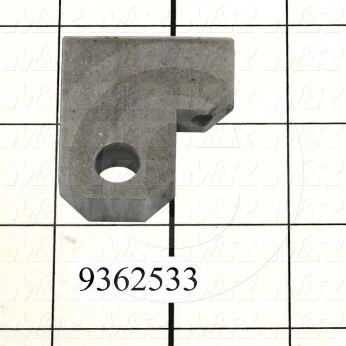 Fabricated Parts, Rod Clevis Bracket, 1.66 in. Length, 1.50 in. Width, 0.38 in. Height