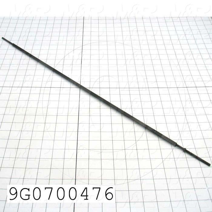 Fabricated Parts, Roller Bar, 28.38 in. Length, 0.25 in. Width, 0.25 in. Height