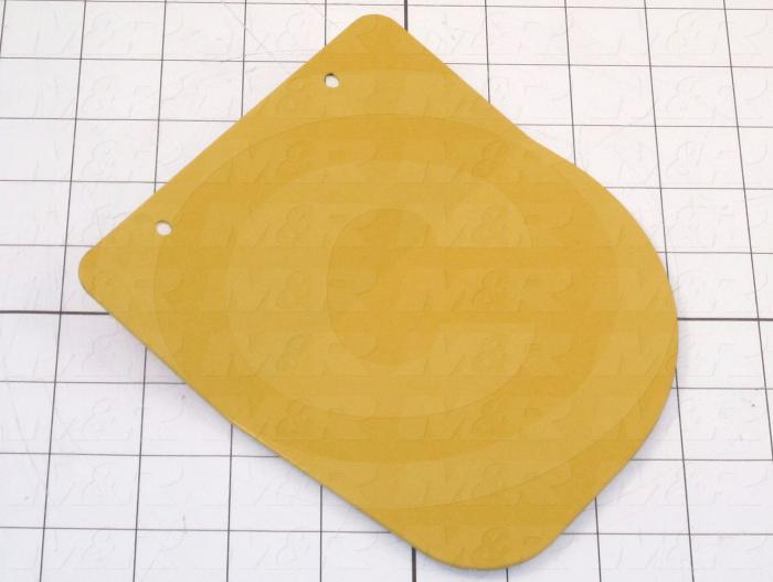 "Fabricated Parts, Safefy Guard Plate Left 6.2"", 6.23 in. Length, 5.50 in. Width, 16 GA Thickness, Safety Yellow Finish"