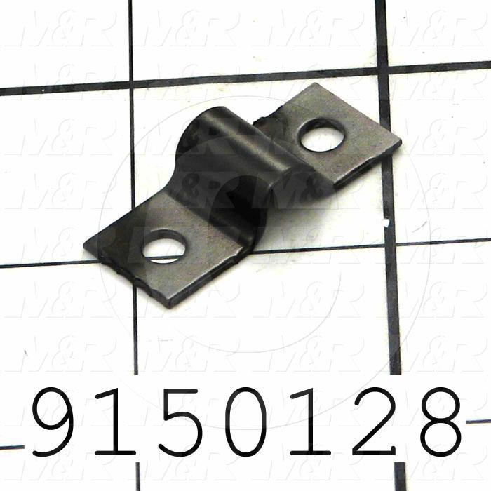 Fabricated Parts, Safety Cable Clip, 1.26 in. Length, 0.50 in. Width, 20 GA Thickness
