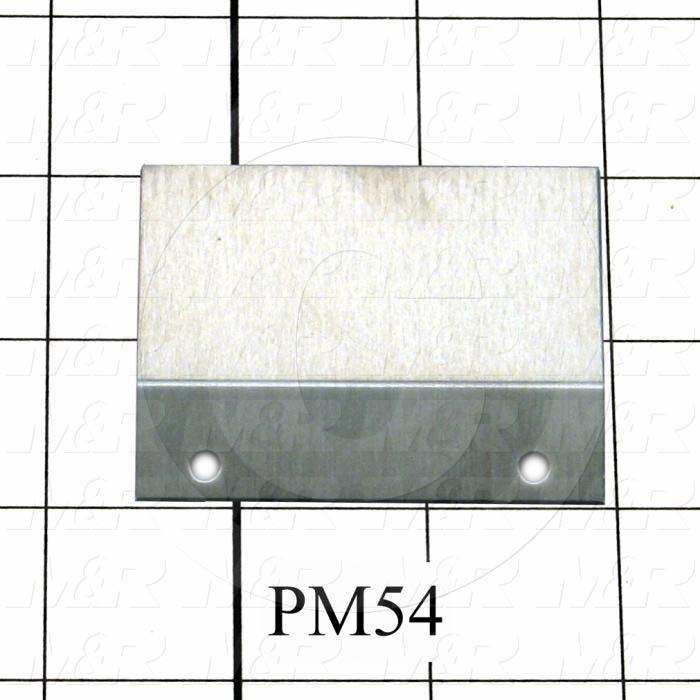 Fabricated Parts, Safety Glass Pilot Angle, 2.50 in. Length, 2.13 in. Width, 0.02 in. Thickness