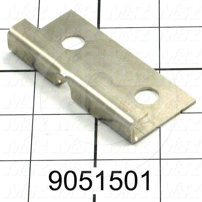 Fabricated Parts, Safety Lock Guide Plate, 2.97 in. Length, 2.05 in. Width, 1.42 in. Height