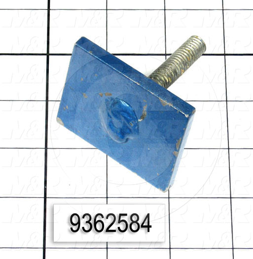 Fabricated Parts, Screen Clamp Weldment, 2.25 in. Length, 1.75 in. Width, 2.56 in. Height, Rear Side