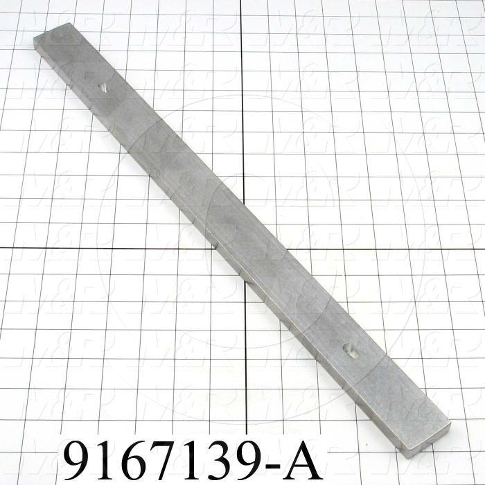 Fabricated Parts, Screen Frame Locking Bar, 20.00 in. Length, 1.50 in. Width, 0.50 in. Thickness