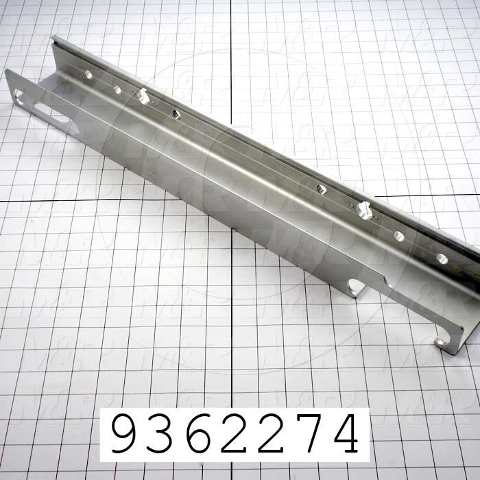 Fabricated Parts, Screen Holder, 12.50 in. Length, 2.38 in. Width, 3.35 in. Height, Front Side