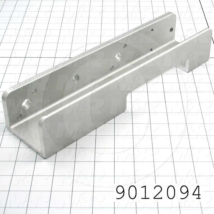 Fabricated Parts, Screen Holder, 13.75 in. Length, 2.50 in. Width, 3.44 in. Height, Left Side
