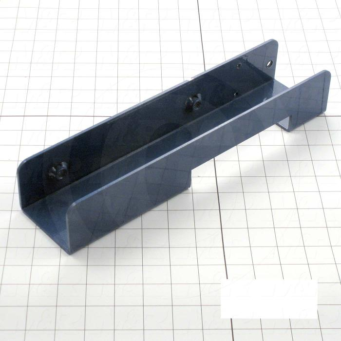 Fabricated Parts, Screen Holder, 13.75 in. Length, 3.25 in. Width, 2.38 in. Height, Left Side, Painted Blue Finish