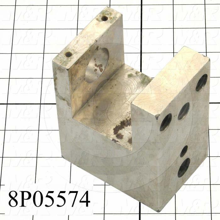 Fabricated Parts, Screen Holder Clamp Block, 4.25 in. Length, 2.50 in. Width, 3.50 in. Height