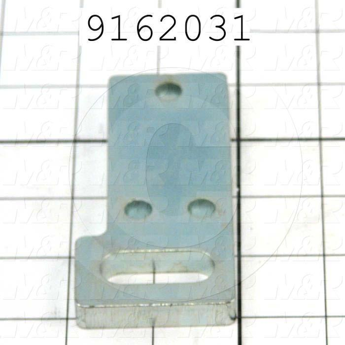 Fabricated Parts, Screen Holder Hanger, 4.00 in. Length, 1.88 in. Width, 0.375 in. Thickness, Zinc Plated Finish