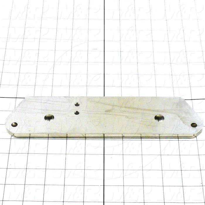 Fabricated Parts, Screen Holder Leveling Plate, 10.75 in. Length, 2.75 in. Width, 0.38 in. Thickness, OC50001 Nickel Plating Finish