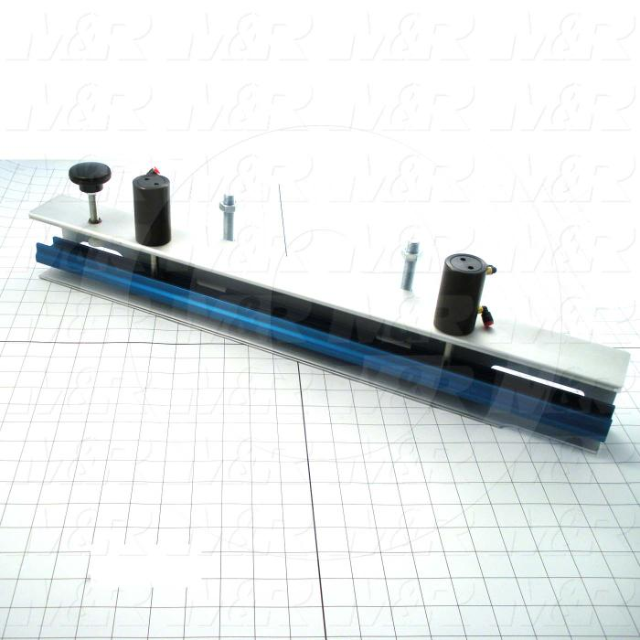 Fabricated Parts, Screen Holder Sub Assembly, 25.00 in. Length, 3.38 in. Width, 6.15 in. Height, Front Side