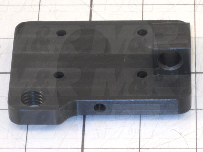 Fabricated Parts, Screen Lock Base, 3.25 in. Length, 2.50 in. Width, 1.00 in. Height, As Material Finish