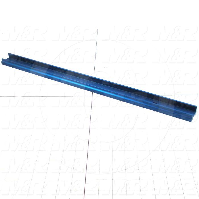 Fabricated Parts, Screen Locking Bar, 23.00 in. Length, 1.58 in. Width, 0.88 in. Height
