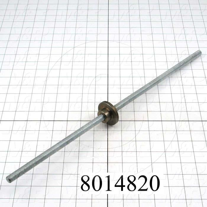Fabricated Parts, Screw and Nut Assy, 20.31 in. Length, As Material Finish