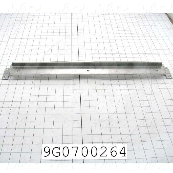Fabricated Parts, Seal Bar Frame, 22.25 in. Length, 2.25 in. Width, 1.50 in. Height, 10 GA Thickness