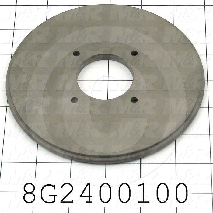 "Fabricated Parts, Sealing Disc 6""Od, 6.00 in. Diameter, 0.28 in. Thickness, Nickolon Coat"