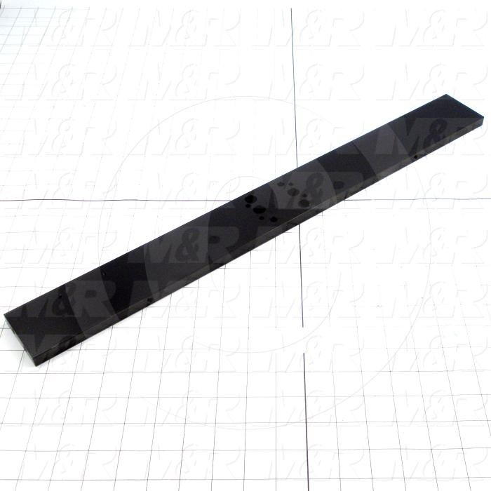 Fabricated Parts, Second Fold Cylinder Mount, 23.25 in. Length, 2.50 in. Width, 0.50 in. Thickness, Used With Bimba Second Fold Cylinder