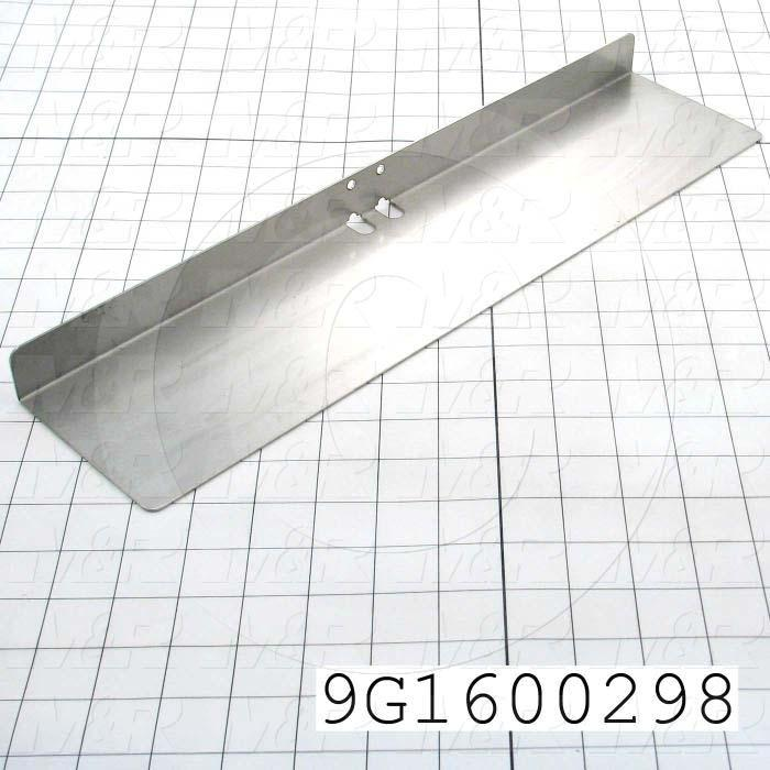 Fabricated Parts, Second Fold Finger, 16.50 in. Length, 3.94 in. Width, 1.13 in. Height