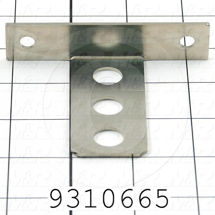 Fabricated Parts, Sensor Holder, 3.50 in. Length, 2.75 in. Width, 0.75 in. Height, 14 GA Thickness, Nickel Plated Finish