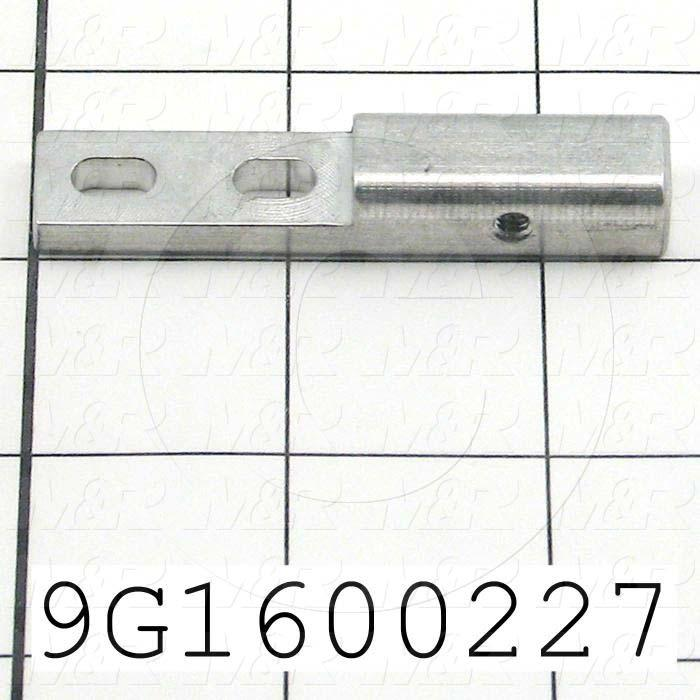 Fabricated Parts, Shaft Adj Bracket, 2.50 in. Length, 0.50 in. Width, 0.375 in. Thickness