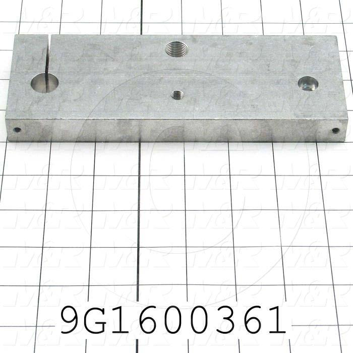 Fabricated Parts, Shaft Bracket, 7.75 in. Length, 2.75 in. Width, .75 in. Thickness