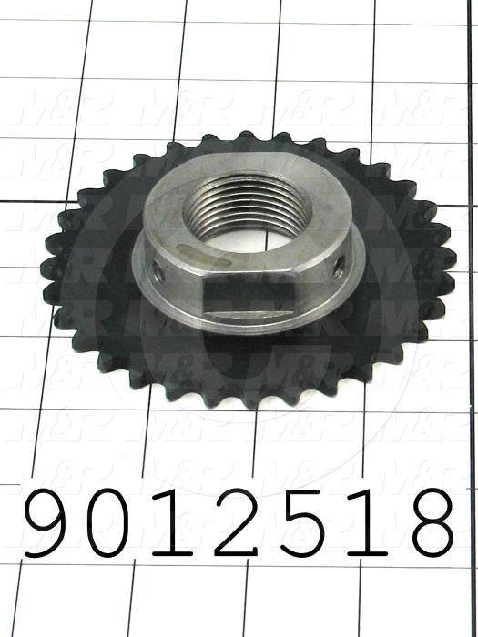 Fabricated Parts, Shaft Drive Sprocket, 0.75 in. Length, 4.15 in. Diameter