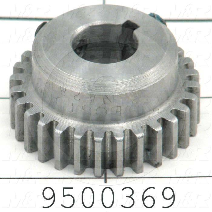 Fabricated Parts, Shaft Gear, 0.75 in. Length