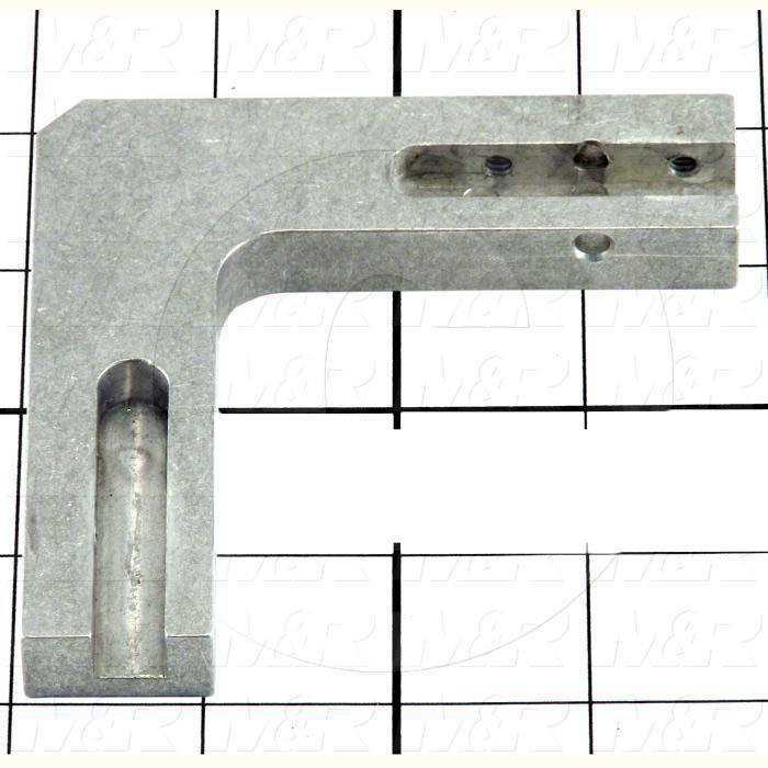 Fabricated Parts, Sheet Stop Pivot Base, 3.80 in. Length, 0.50 in. Width, 3.80 in. Height