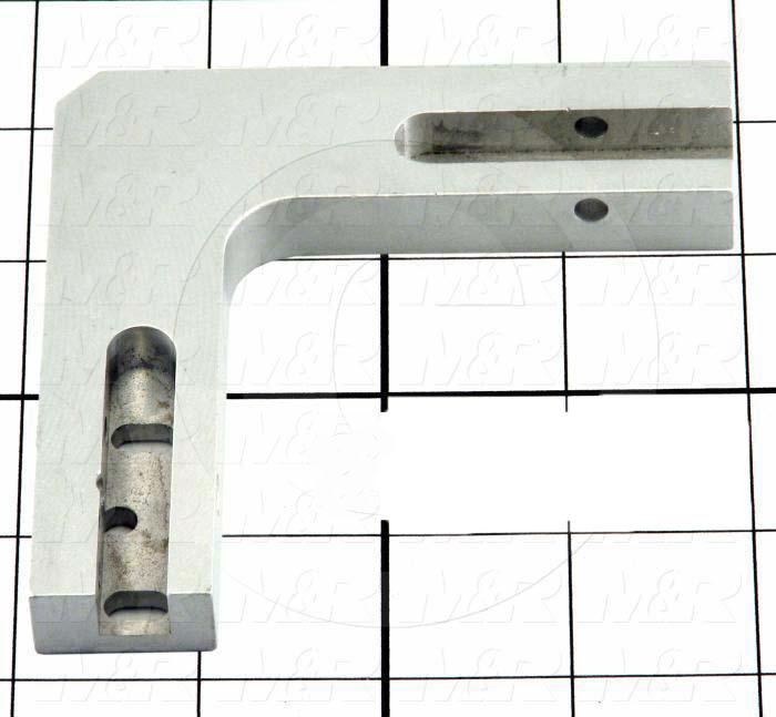 Fabricated Parts, Sheet Stop Pivot Base, 3.80 in. Length, 3.80 in. Width, 0.75 in. Thickness, Front