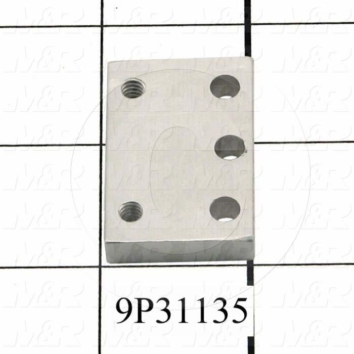 Fabricated Parts, Sheet Stop Plate, 1.50 in. Length, 1.00 in. Width, 0.25 in. Thickness