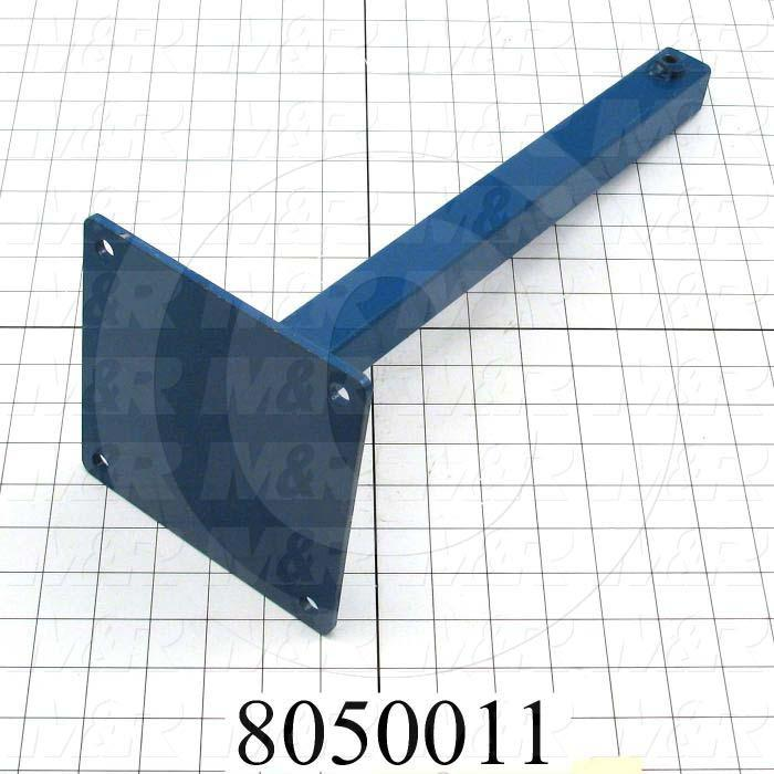 "Fabricated Parts, Shirt Detector Base 16.19"" Ch, 16.19 in. Length, 6.00 in. Width, 6.00 in. Height, Painted Blue Finish"